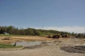 The site of the old movie theater in Sevierville, completely cleared out