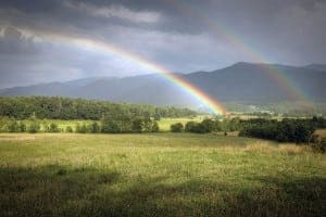 Double rainbow in Cades Cove