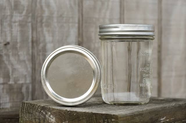 clear Pigeon Forge moonshine in a mason jar
