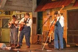 Band performing during Smoky Mountain tunes and Tales