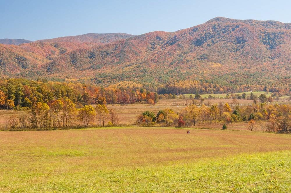 View of Cades Cove in the Great Smoky Mountains
