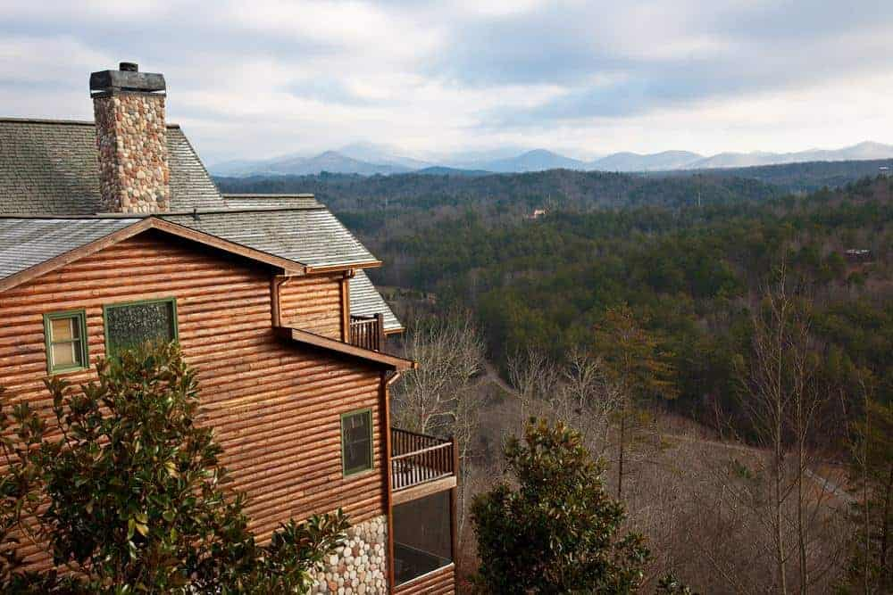 Incredible view from Smoky Mountain vacation cabin