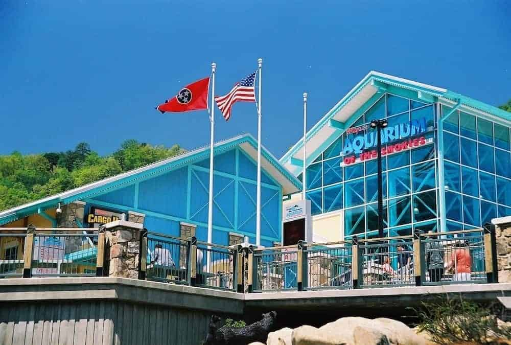 The outside of the Gatlinburg aquarium.