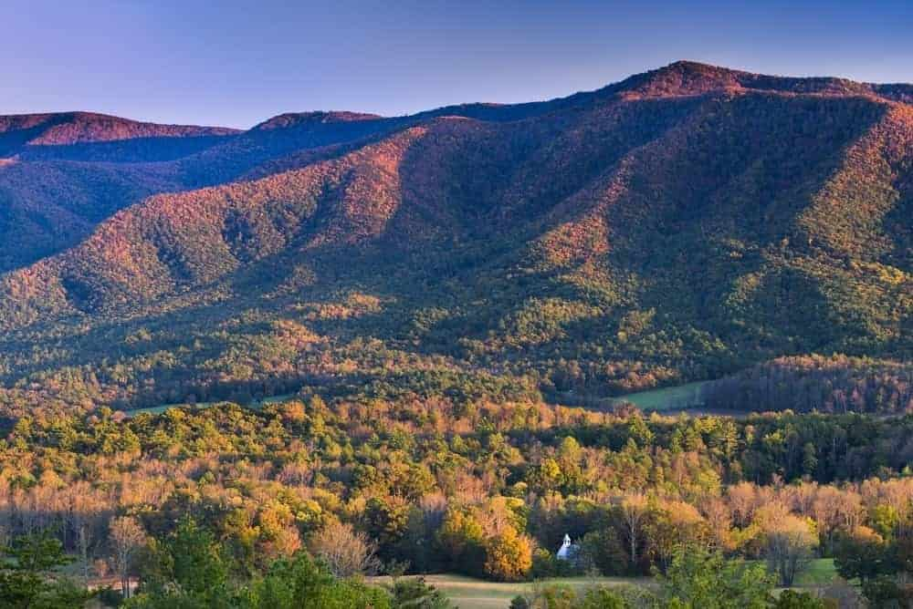 Seeing the fall colors in Cades Cove is one of the best things to do in Gatlinburg in November.