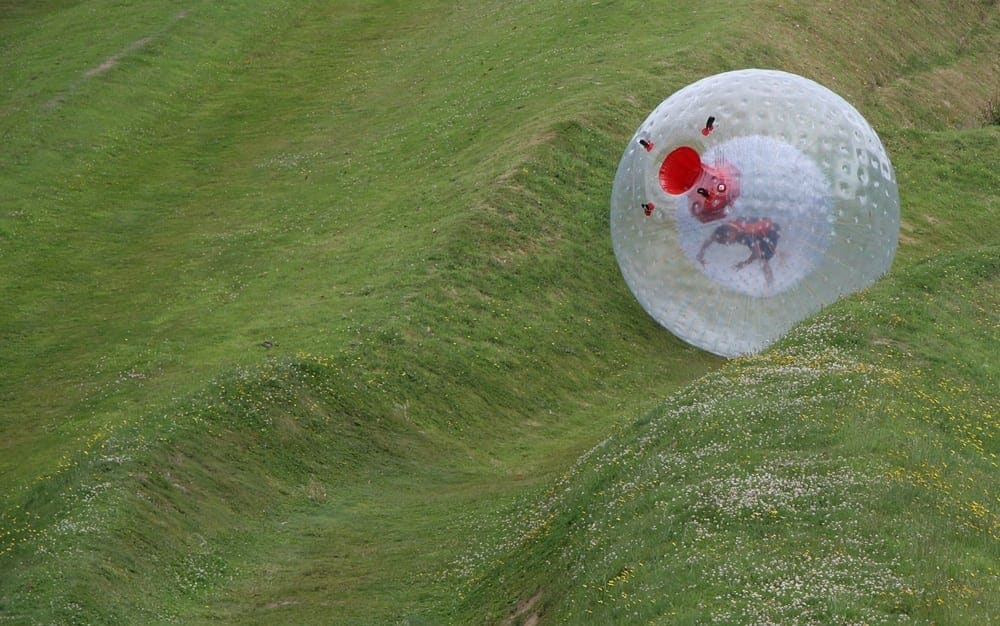 No That S Not A Giant Hamster Ball Dry Zorbing Comes To Outdoor Gravity Park Pigeon Forge