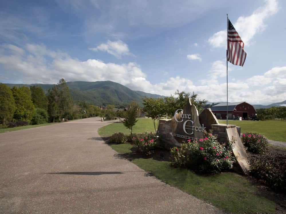Entrence to Cove Creek RV Resort.