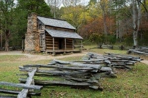 The John Oliver Place in Cades Cove.