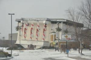 A photo of WonderWorks in Pigeon Forge during the winter.