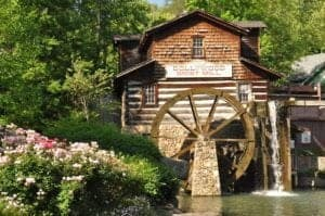 The Grist Mill at the Dollywood theme park.