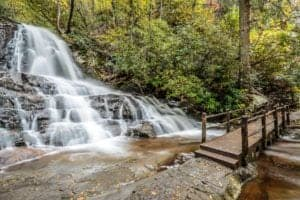 Stunning photo of Laurel Falls in the Great Smoky Mountains National Park.