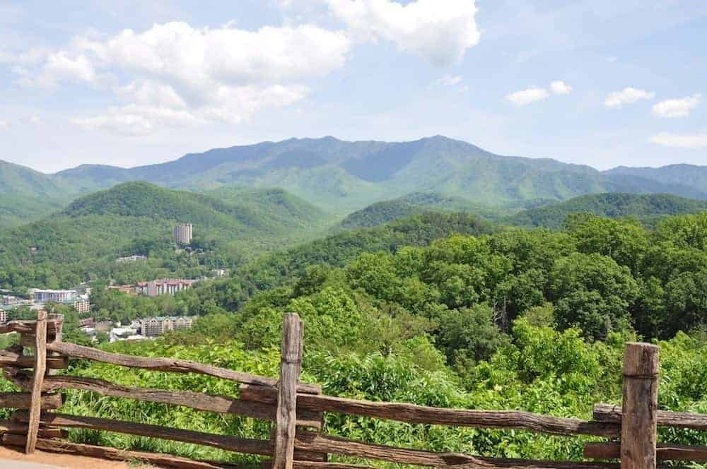 Stunning view of Gatlinburg in the Smoky Mountains.