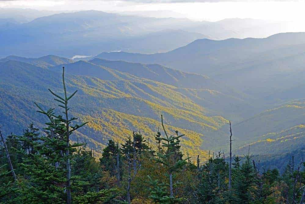 Stunning view from Clingmans Dome, the highest point in the Smoky Mountains.