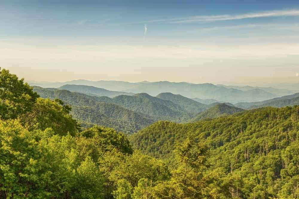 Beautiful photo of the Great Smoky Mountains.