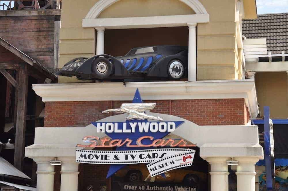 Exterior of the Hollywood Star Cars Museum in Gatlinburg.