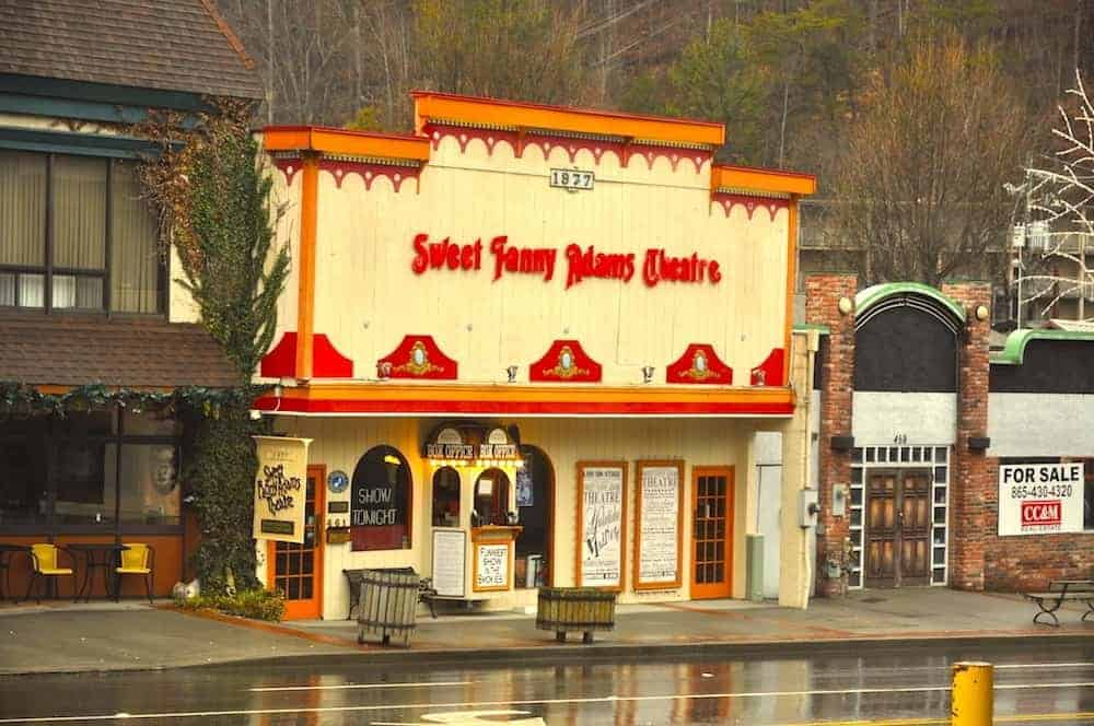 The Sweet Fanny Adams Theatre in downtown Gatlinburg.