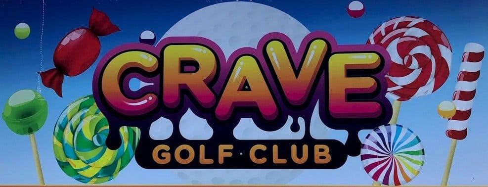 The sign for Crave Golf Club in Pigeon Forge.
