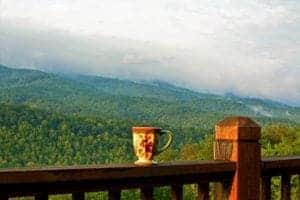 view from a smoky mountain cabin