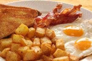 breakfast plate at restaurant