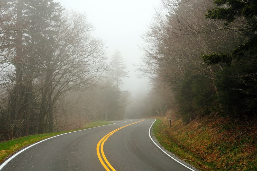 Clingmans Dome Road in the Smoky Mountains