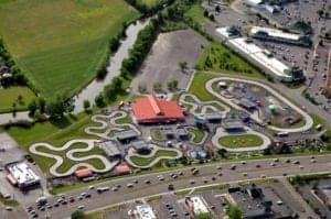 aerial view nascar speedpark