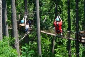 dueling zipline adventure at anakeesta