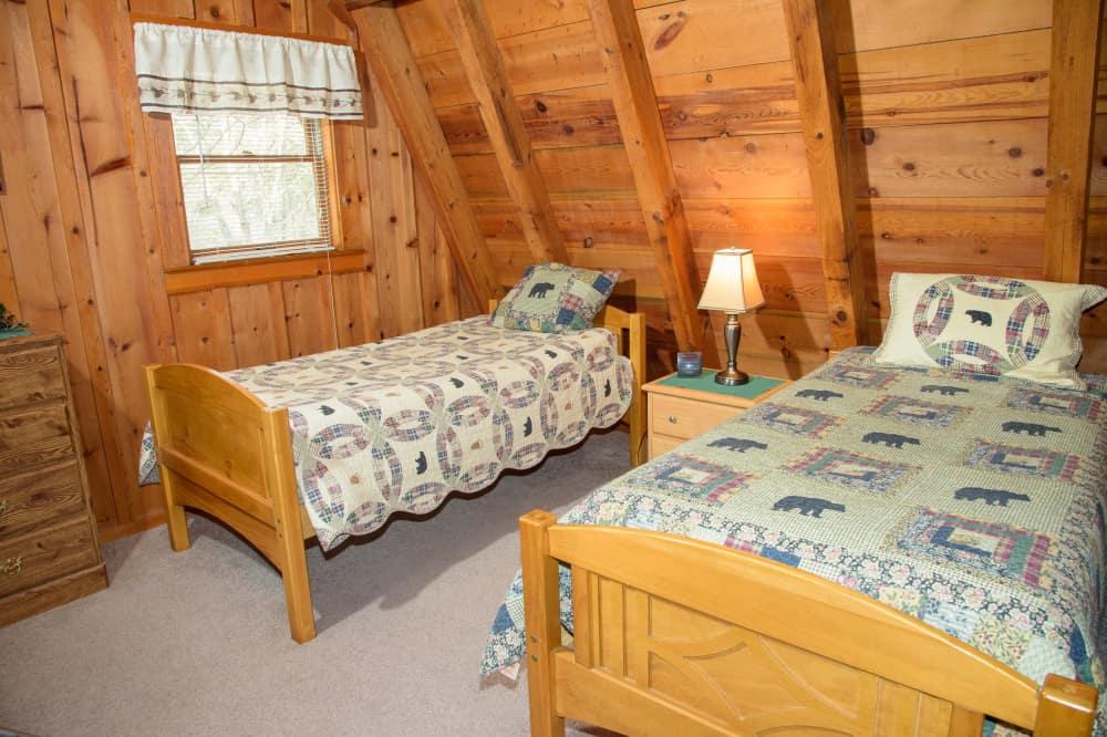 2nd story loft bedroom