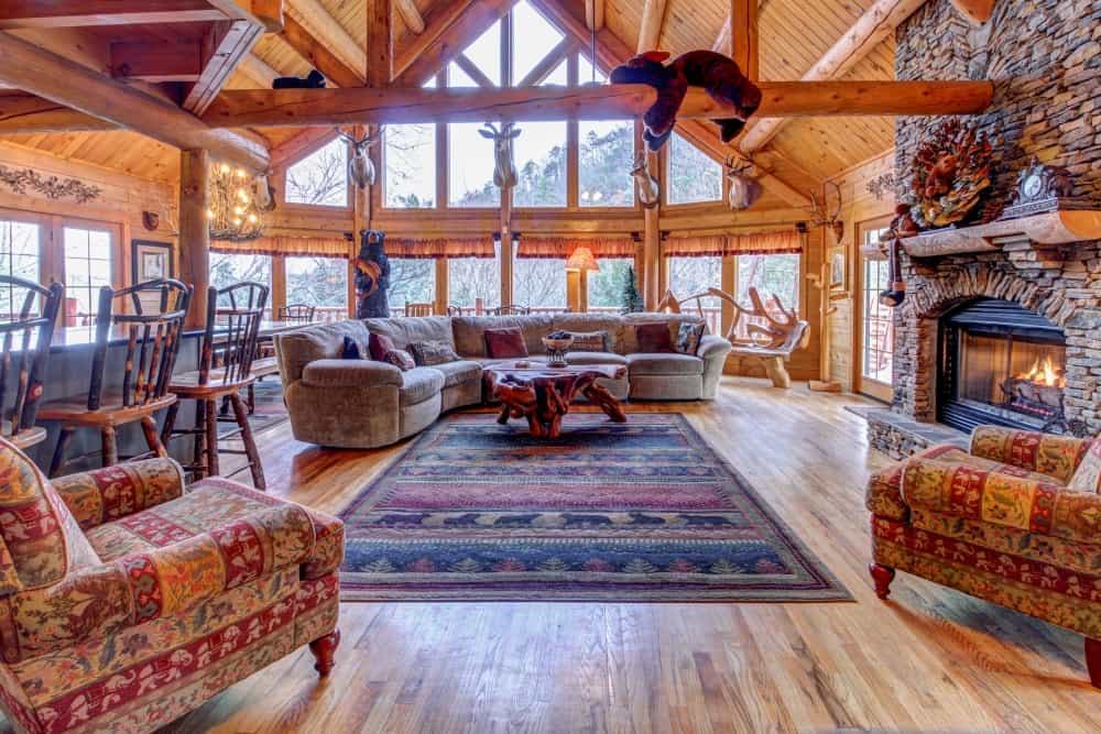 living room of Mystic falls Cabin