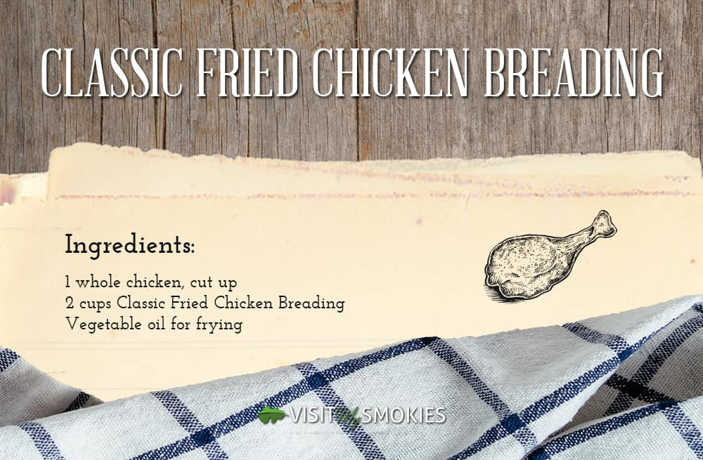 classic fried chicken breading receipe at the pottery house cafe